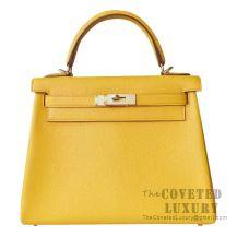Hermes Kelly 28 Handbag 9D Ambre Togo GHW