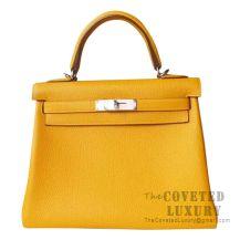 Hermes Kelly 28 Handbag 9D Ambre Togo SHW