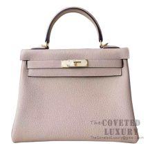 Hermes Kelly 28 Handbag CC81 Gris Tourterelle Togo GHW