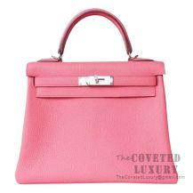 Hermes Kelly 28 Handbag U5 Bose Lipstick Togo SHW