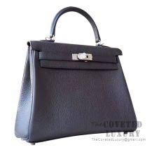 Hermes Kelly 28 Handbag 89 Noir Togo SHW