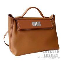 Hermes Kelly 24/24 Bag 29 CM CC37 Gold Togo SHW