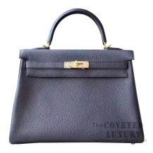 Hermes Kelly 32 Bag 89 Noir Togo GHW