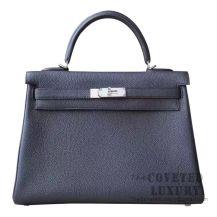 Hermes Kelly 32 Bag 89 Noir Togo SHW