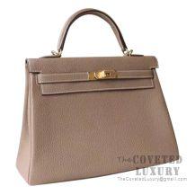 Hermes Kelly 32 Bag CC18 Etoupe Togo GHW