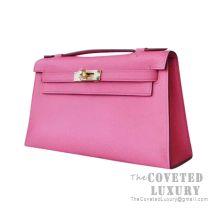 Hermes Mini Kelly I Bag 8W Rose Azalee Epsom GHW