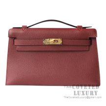 Hermes Mini Kelly I Bag CK55 Rouge H Epsom GHW