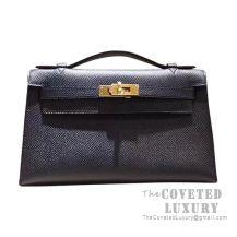 Hermes Mini Kelly I Bag 89 Noir Epsom GHW