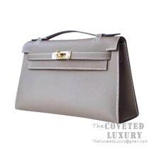 Hermes Mini Kelly I Bag CK18 Etoupe Epsom GHW