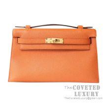 Hermes Mini Kelly I Bag I9 Apricot Epsom GHW