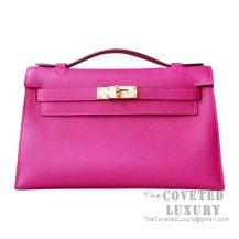 Hermes Mini Kelly I Bag L3 Rose Purple Epsom GHW