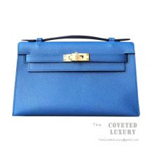 Hermes Mini Kelly I Bag R2 Blue Agate Epsom GHW