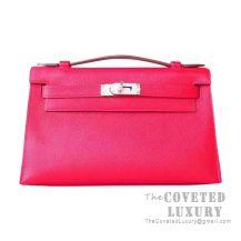 Hermes Mini Kelly I Bag S5 Rouge Tomate Epsom SHW