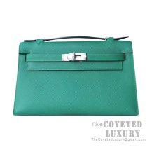 Hermes Mini Kelly I Bag U4 Vert Vertigo Epsom SHW