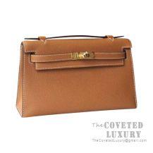 Hermes Mini Kelly I Bag CK37 Gold Epsom GHW