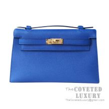 Hermes Mini Kelly I Bag I7 Blue Zellige Epsom GHW