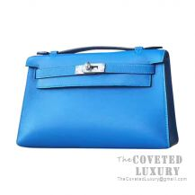 Hermes Mini Kelly I Bag 7Q Mykonos Swift SHW