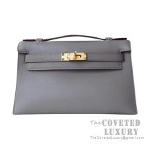 Hermes Mini Kelly I Bag 8F Etain Swift GHW