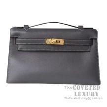 Hermes Mini Kelly I Bag CC88 Graphite Swift GHW