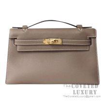 Hermes Mini Kelly I Bag CK18 Etoupe Swift GHW