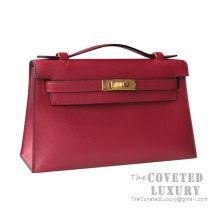 Hermes Mini Kelly I Bag K1 Rouge Grenat Swift GHW