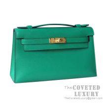 Hermes Mini Kelly I Bag U4 Vert Vertigo Swift GHW
