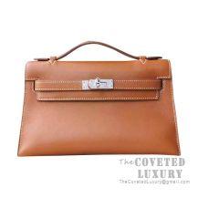 Hermes Mini Kelly I Bag CK37 Gold Swift GHW