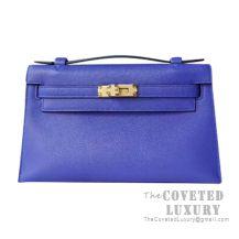 Hermes Mini Kelly I Bag I7 Blue Zellige Swift GHW
