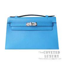 Hermes Mini Kelly I Bag 2T Blue Paradise Swift SHW