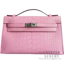 Hermes Mini Kelly I Bag 5P Pink Matte Alligator SHW