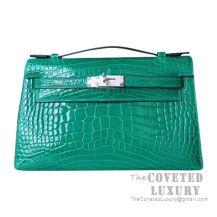 Hermes Mini Kelly I Bag 6Q Vert Emeraude Shiny Alligator SHW