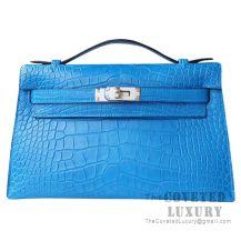 Hermes Mini Kelly I Bag 7Q Mykonos Matte Alligator SHW