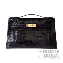 Hermes Mini Kelly I Bag 89 Noir Shiny Alligator GHW