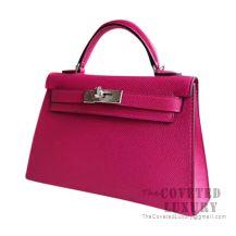 Hermes Mini Kelly II Bag L3 Rose Purple Epsom SHW