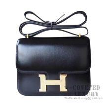 Hermes Constance 23 Bag 89 Noir Box GHW