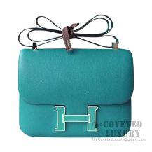 Hermes Constance 23 Bag 7F Blue Paon Epsom With Enamel Buckle