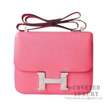 Hermes Constance 23 Bag 8W Rose Azalee Epsom SHW