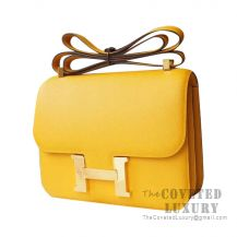Hermes Constance 23 Bag 9D Ambre Epsom GHW