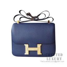 Hermes Constance 23 Bag CC73 Blue Saphir Epsom GHW