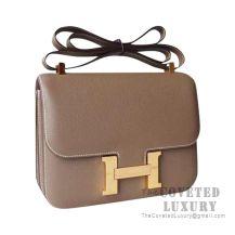 Hermes Constance 23 Bag CK18 Etoupe Epsom GHW