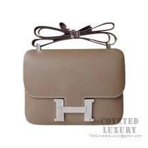 Hermes Constance 23 Bag CK18 Etoupe Epsom SHW