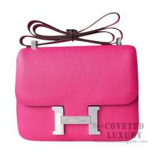 Hermes Constance 23 Bag L3 Rose Purple Epsom SHW
