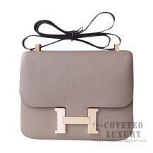 Hermes Constance 23 Bag M8 Gris Asphalt Epsom With Rose Gold Hardware
