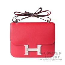 Hermes Constance 23 Bag Q5 Rouge Casaque Epsom SHW