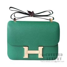 Hermes Constance 23 Bag U4 Vert Vertigo Epsom GHW
