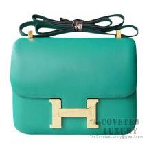 Hermes Constance 23 Bag U4 Vert Vertigo Evercolor GHW