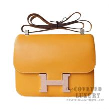 Hermes Constance 23 Bag 1A Paille Swift With Lizard Buckle