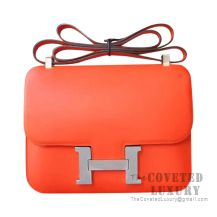 Hermes Constance 23 Bag 8V Orange Poppy Swift SHW