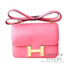 Hermes Constance 23 Bag 8W Rose Azalee Swift GHW