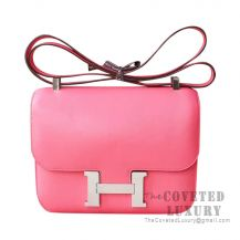 Hermes Constance 23 Bag 8W Rose Azalee Swift SHW
